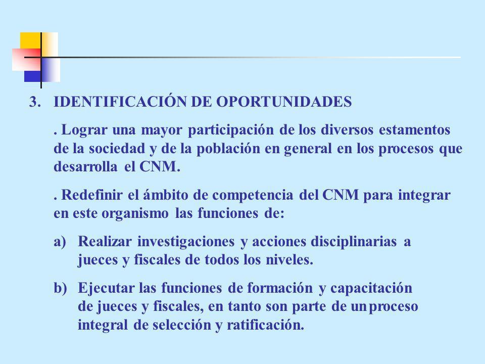 3. IDENTIFICACIÓN DE OPORTUNIDADES