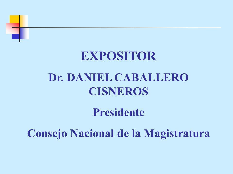 Dr. DANIEL CABALLERO CISNEROS