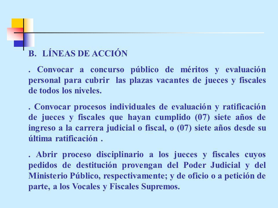 B. LÍNEAS DE ACCIÓN
