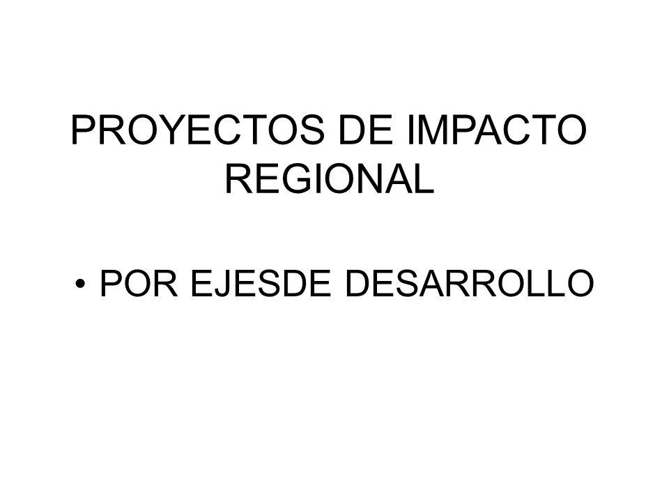 PROYECTOS DE IMPACTO REGIONAL