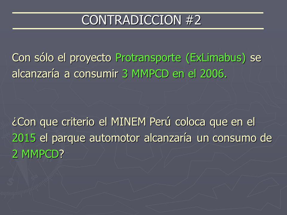 CONTRADICCION #2 Con sólo el proyecto Protransporte (ExLimabus) se