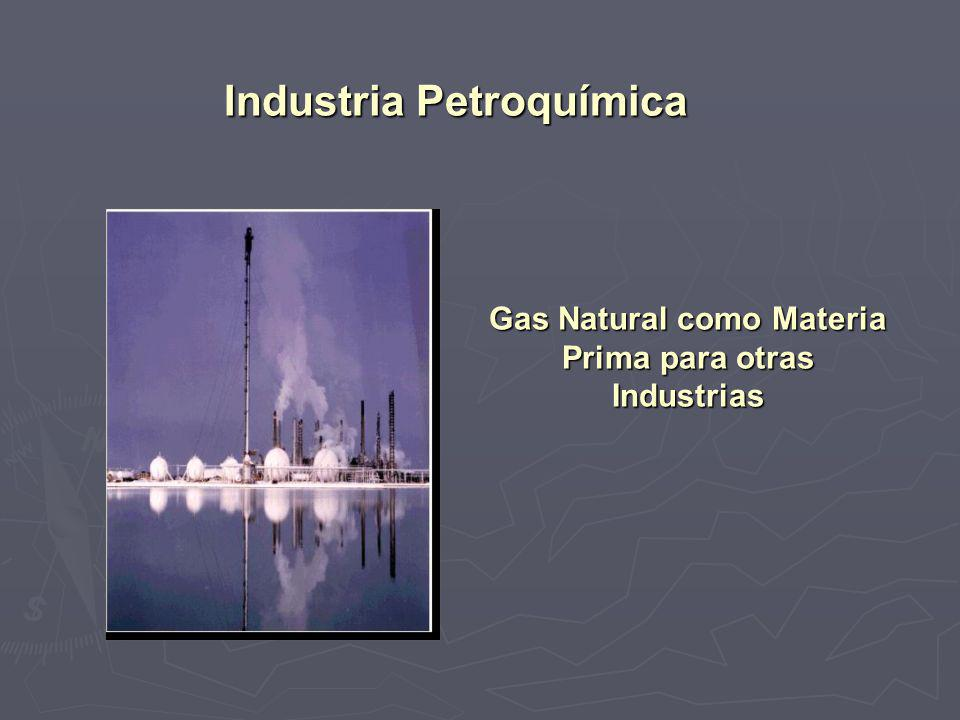 Gas Natural como Materia Prima para otras Industrias