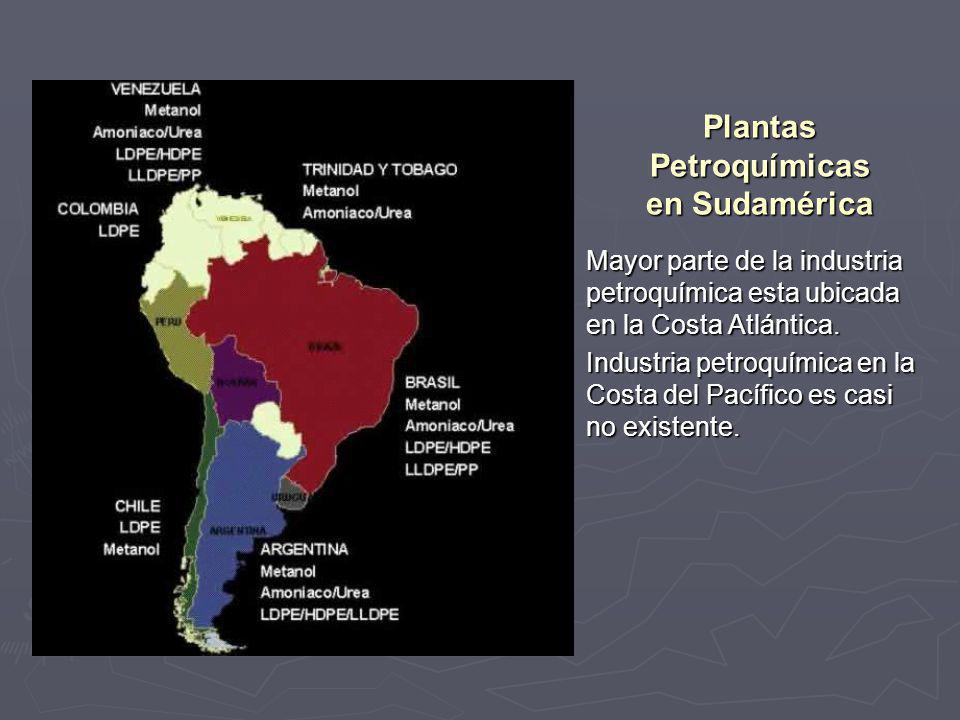 Plantas Petroquímicas en Sudamérica