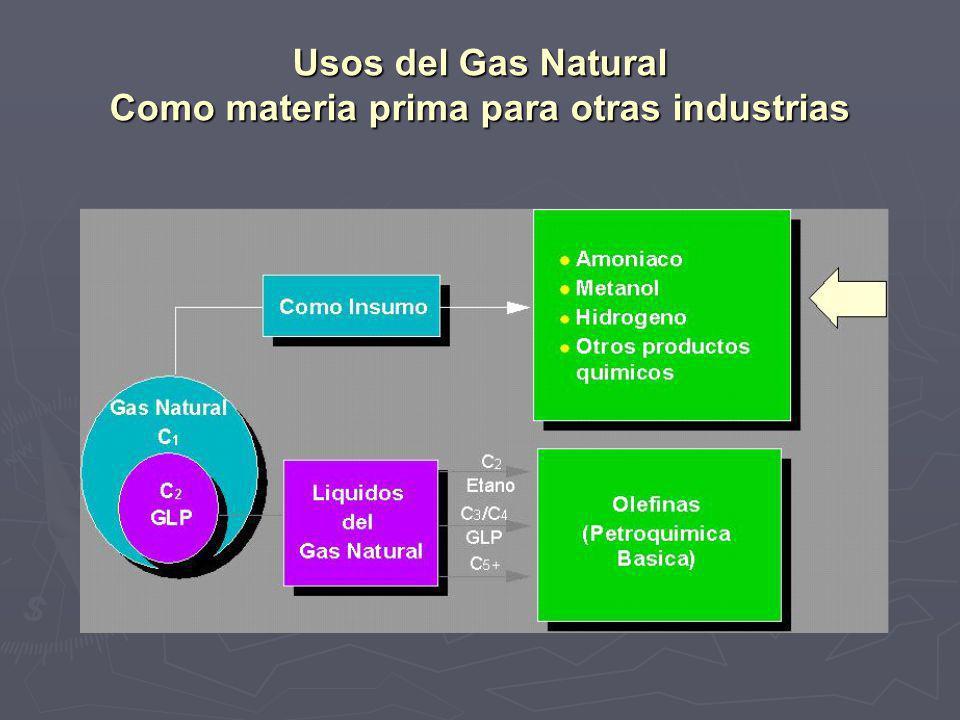 Usos del Gas Natural Como materia prima para otras industrias
