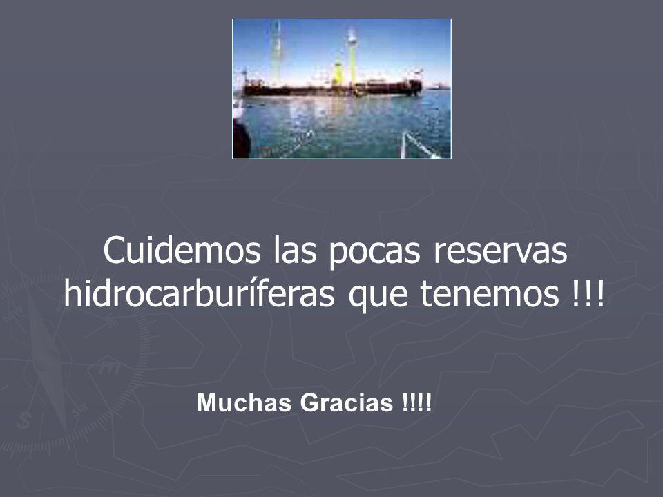 Cuidemos las pocas reservas hidrocarburíferas que tenemos !!!