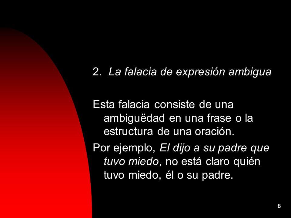 2. La falacia de expresión ambigua