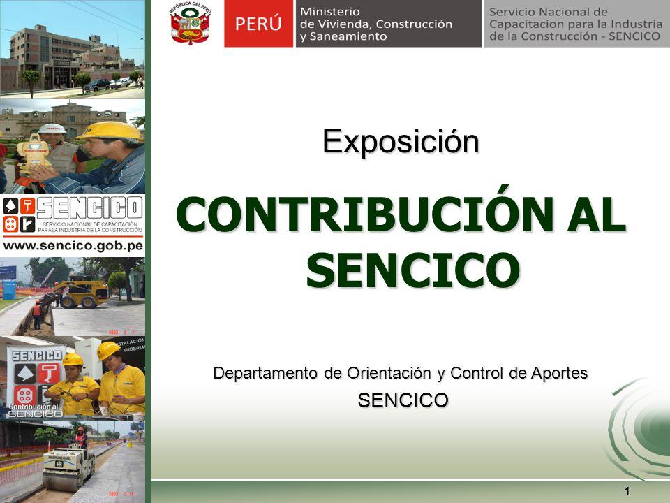 CHARLA: CONTRIBUCION AL SENCICO