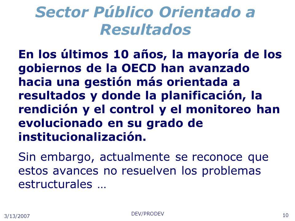 Sector Público Orientado a Resultados