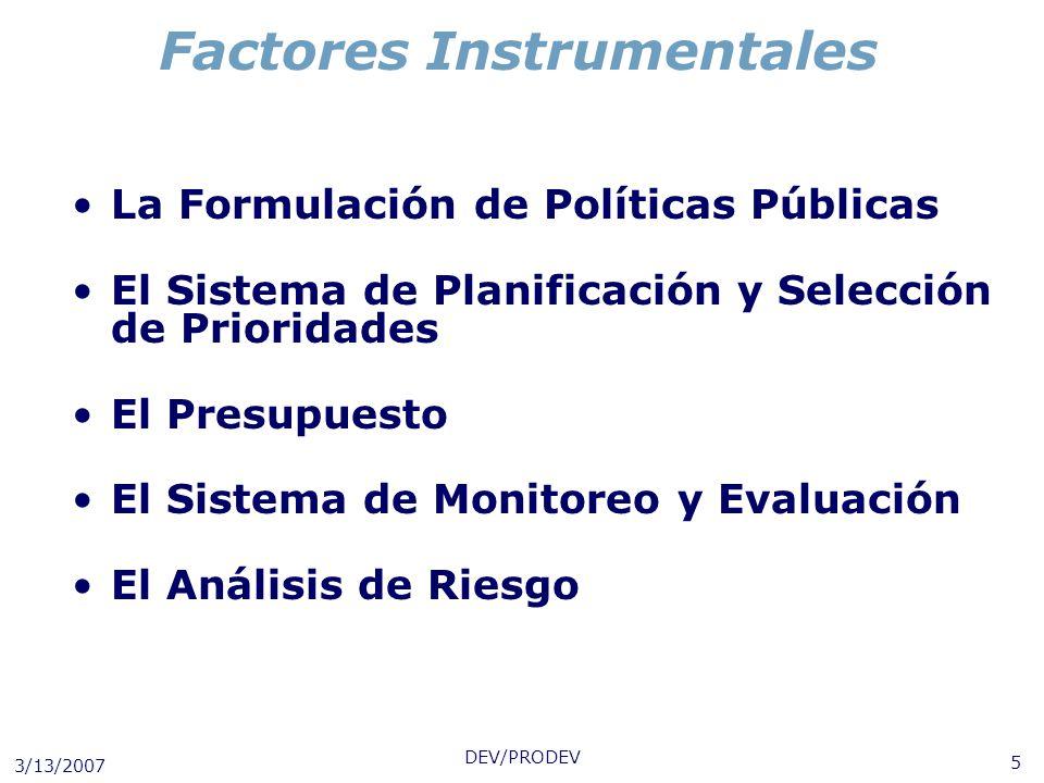 Factores Instrumentales