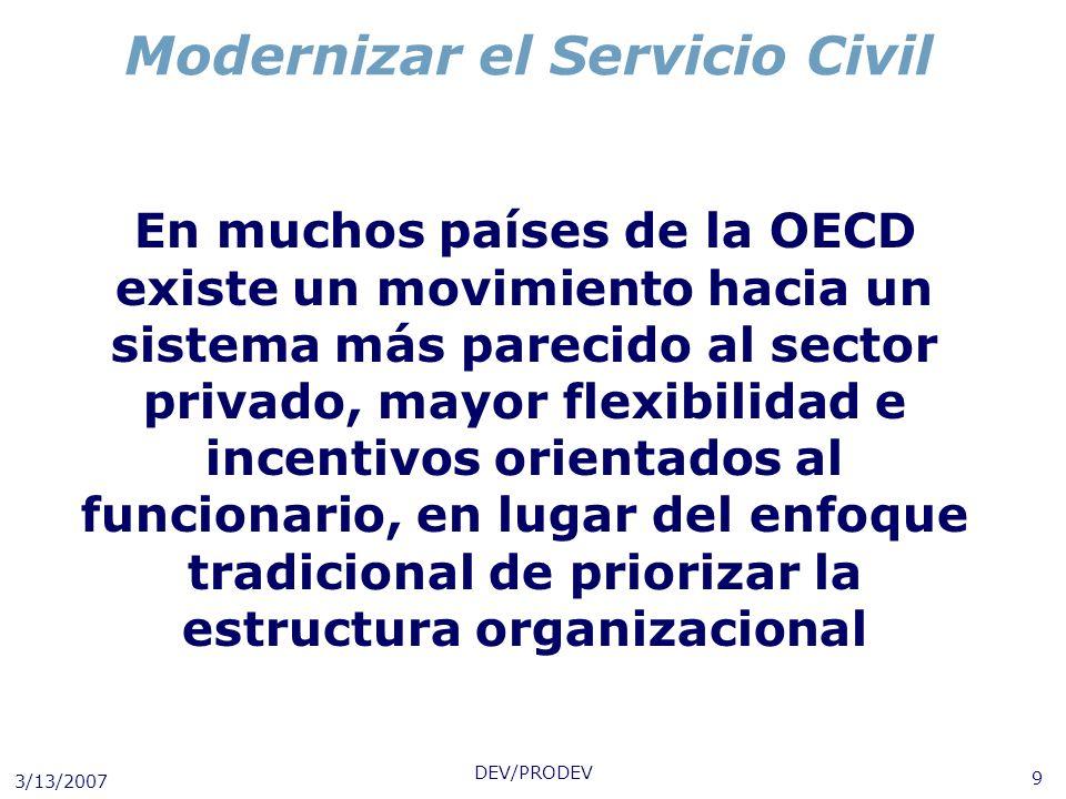Modernizar el Servicio Civil