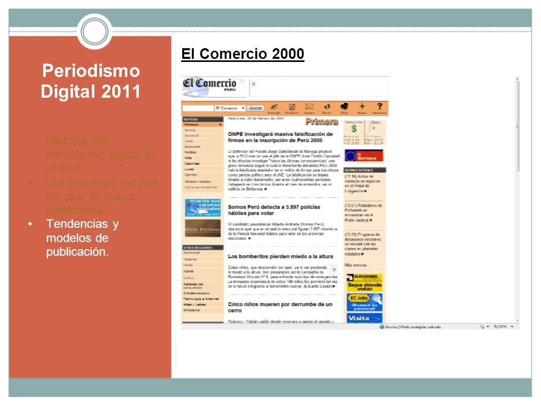 Periodismo Digital 2011 El Comercio 2000