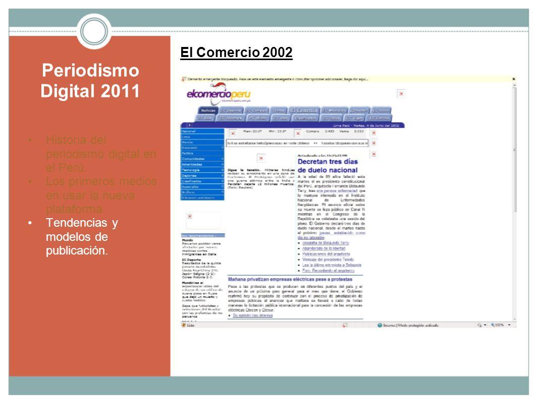 Periodismo Digital 2011 El Comercio 2002