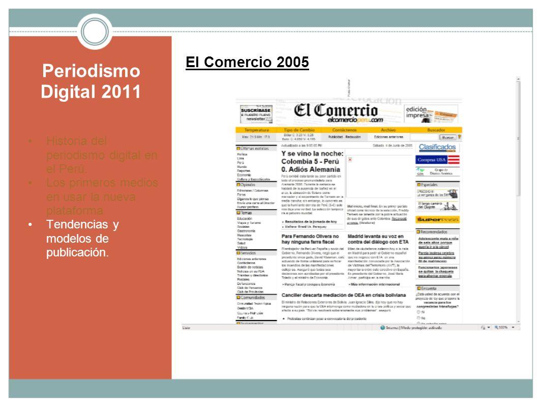 Periodismo Digital 2011 El Comercio 2005