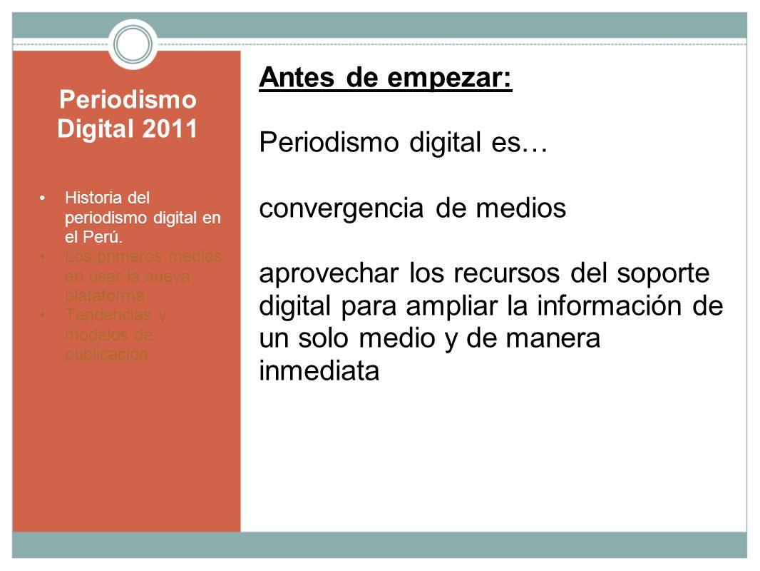 Periodismo digital es… convergencia de medios