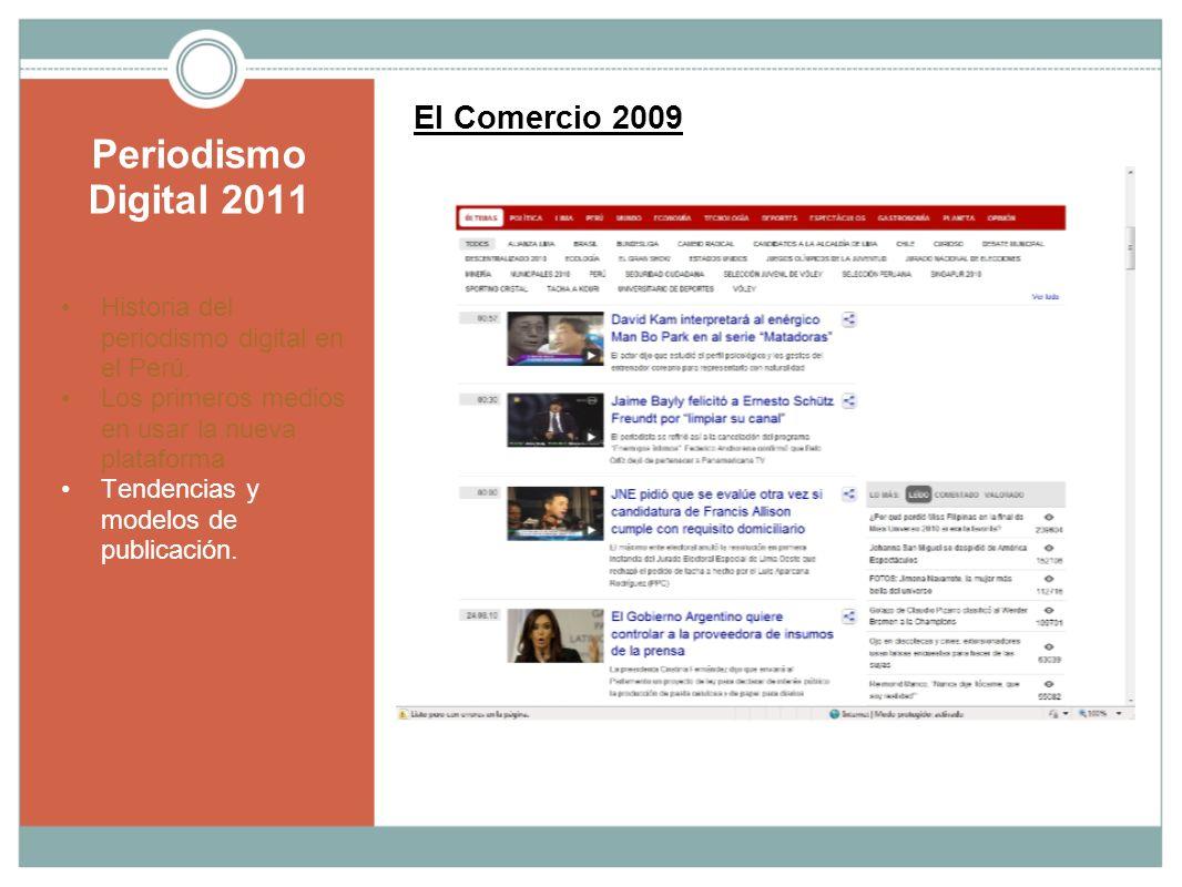 Periodismo Digital 2011 El Comercio 2009