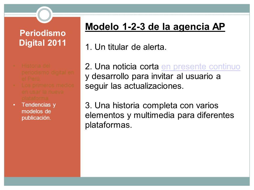 Modelo 1-2-3 de la agencia AP