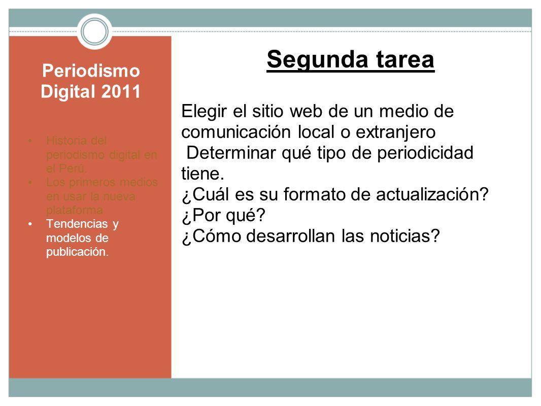Segunda tarea Periodismo Digital 2011