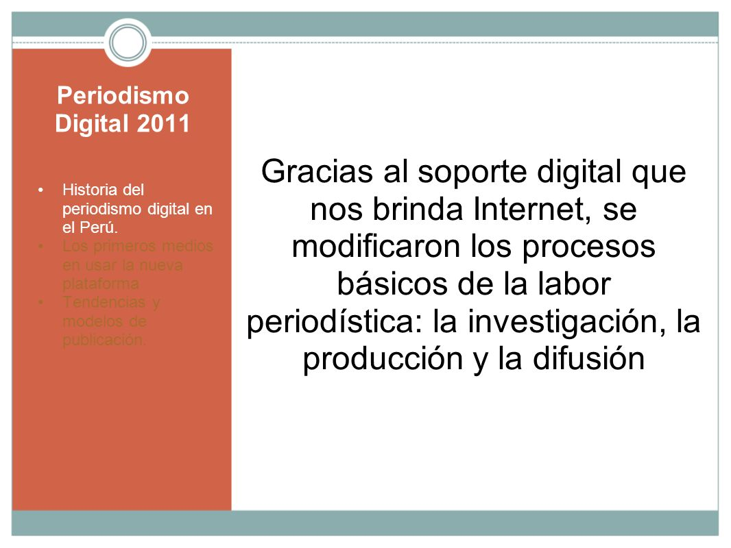 Periodismo Digital 2011