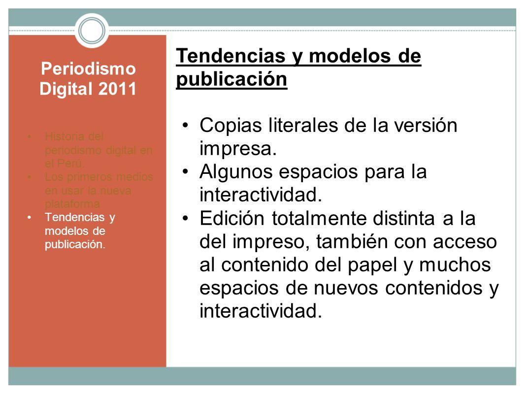 Tendencias y modelos de publicación