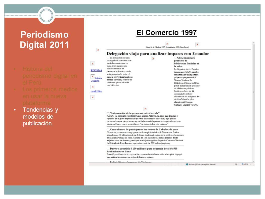 Periodismo Digital 2011 El Comercio 1997