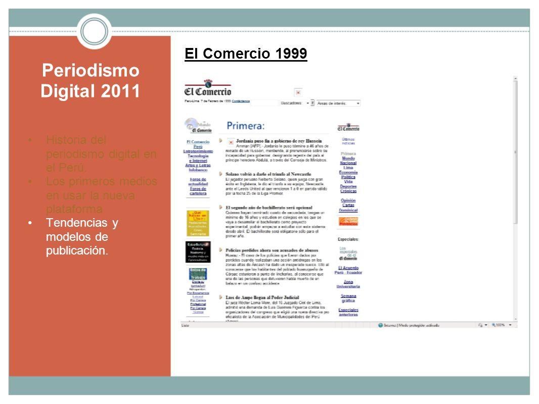 Periodismo Digital 2011 El Comercio 1999