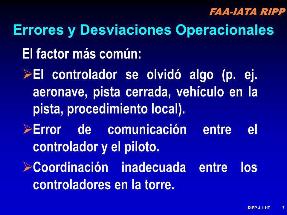 Errores y Desviaciones Operacionales