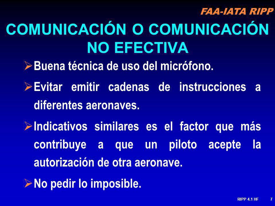 COMUNICACIÓN O COMUNICACIÓN NO EFECTIVA