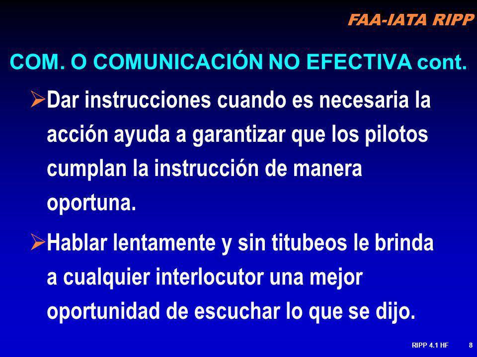 COM. O COMUNICACIÓN NO EFECTIVA cont.