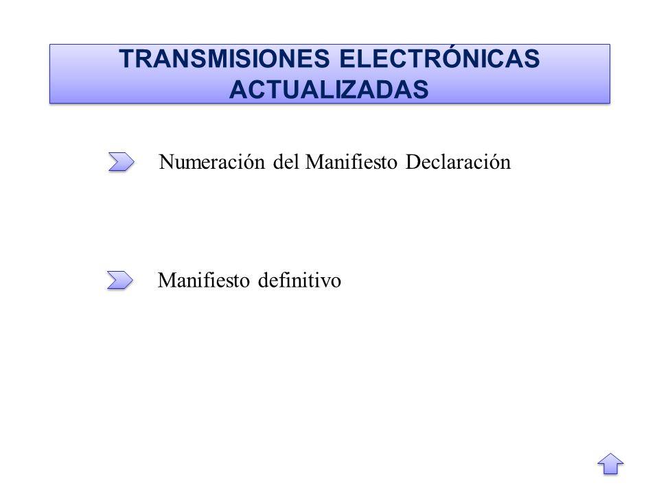 TRANSMISIONES ELECTRÓNICAS ACTUALIZADAS