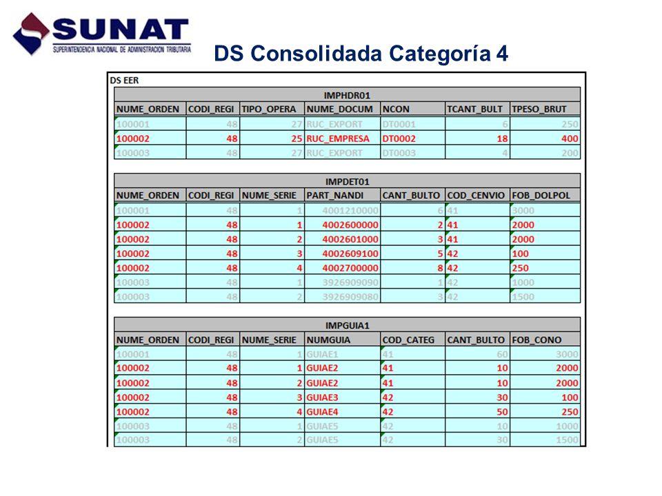 DS Consolidada Categoría 4