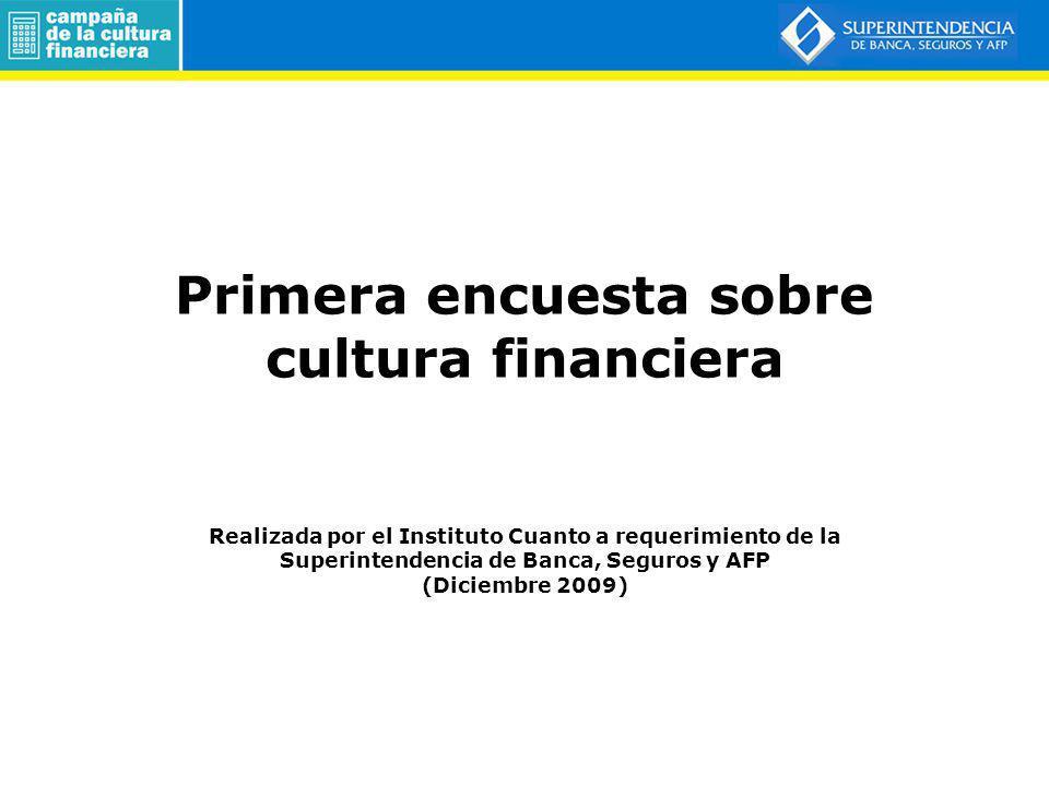 Primera encuesta sobre cultura financiera