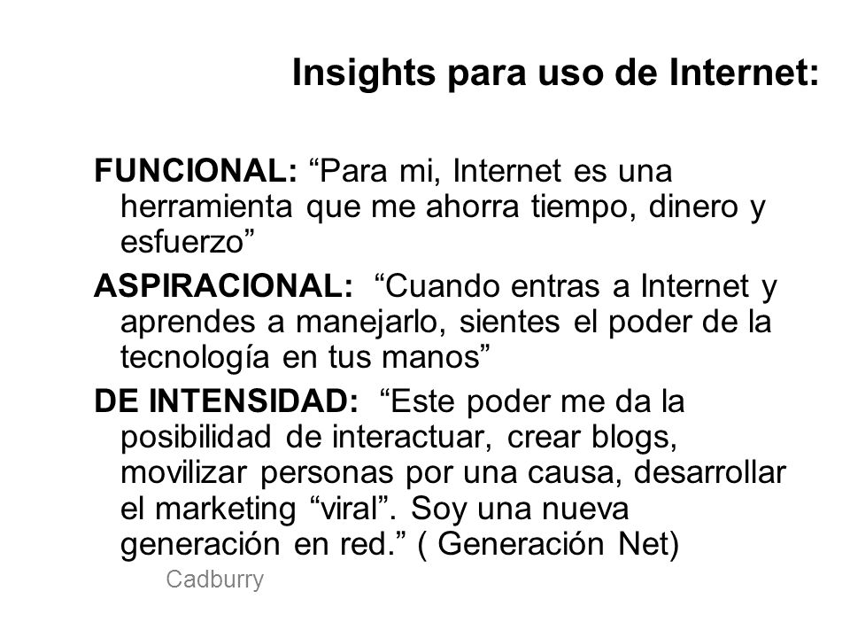 Insights para uso de Internet: