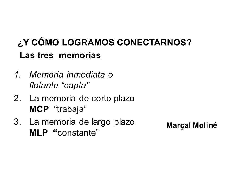 ¿Y CÓMO LOGRAMOS CONECTARNOS Las tres memorias