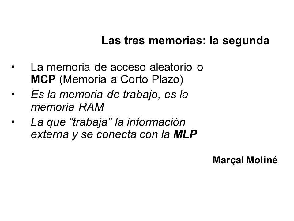 Las tres memorias: la segunda