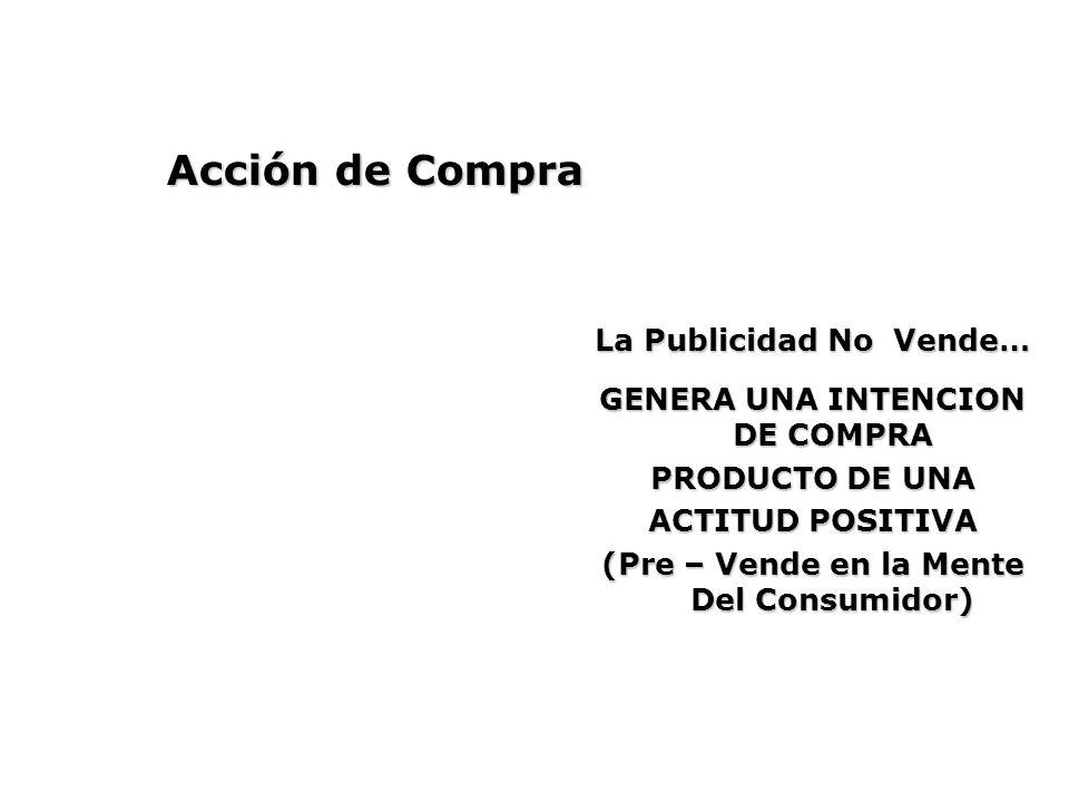 Acción de Compra La Publicidad No Vende…