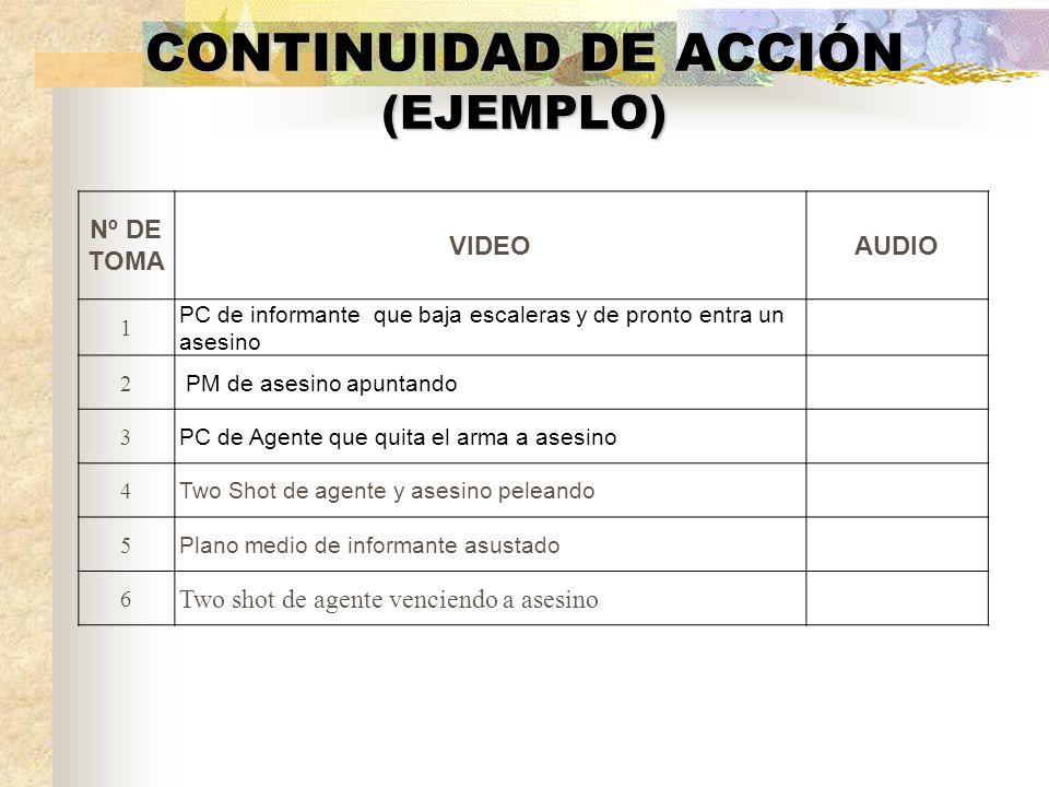 CONTINUIDAD DE ACCIÓN (EJEMPLO)