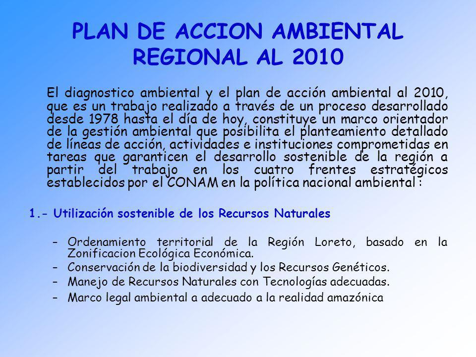 PLAN DE ACCION AMBIENTAL REGIONAL AL 2010