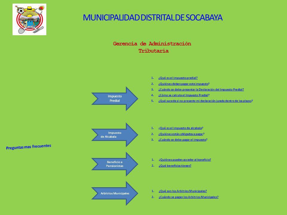 MUNICIPALIDAD DISTRITAL DE SOCABAYA