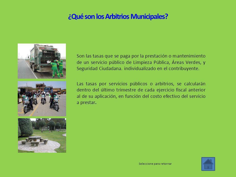 ¿Qué son los Arbitrios Municipales