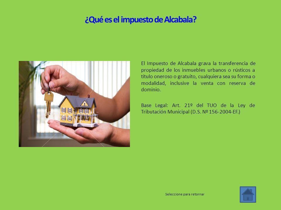 ¿Qué es el impuesto de Alcabala