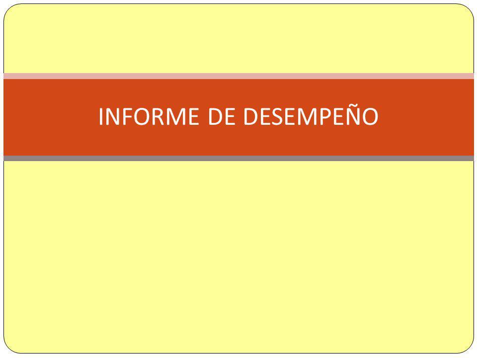 INFORME DE DESEMPEÑO
