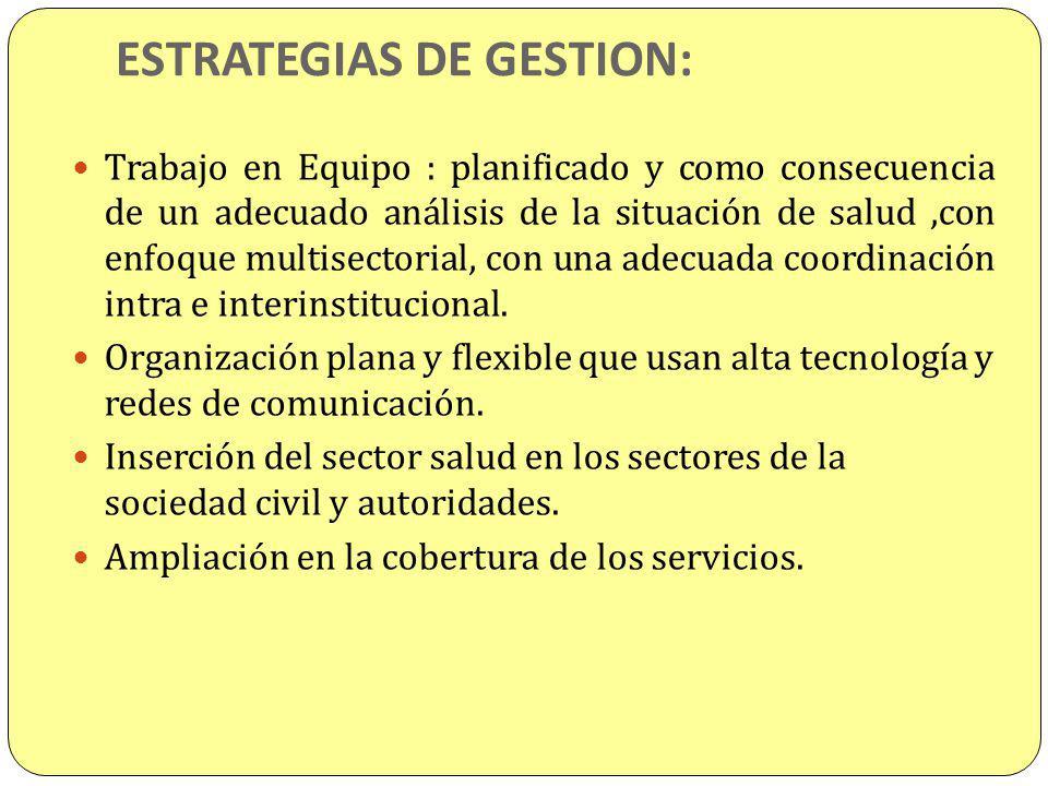 ESTRATEGIAS DE GESTION: