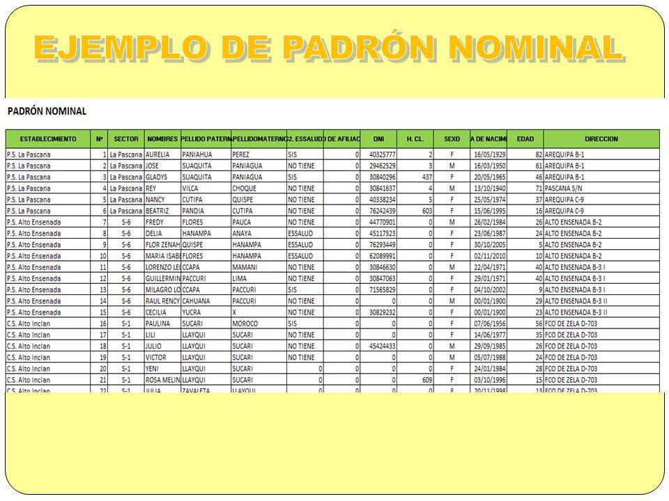 EJEMPLO DE PADRÓN NOMINAL