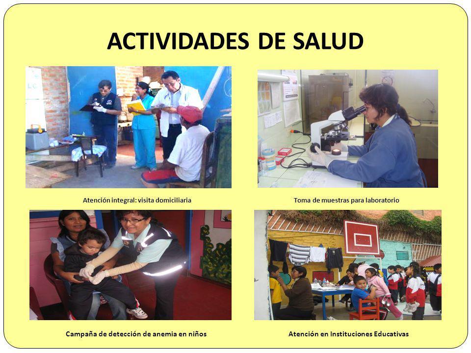ACTIVIDADES DE SALUD Campaña de detección de anemia en niños