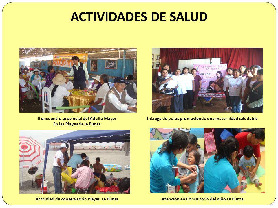 ACTIVIDADES DE SALUD II encuentro provincial del Adulto Mayor