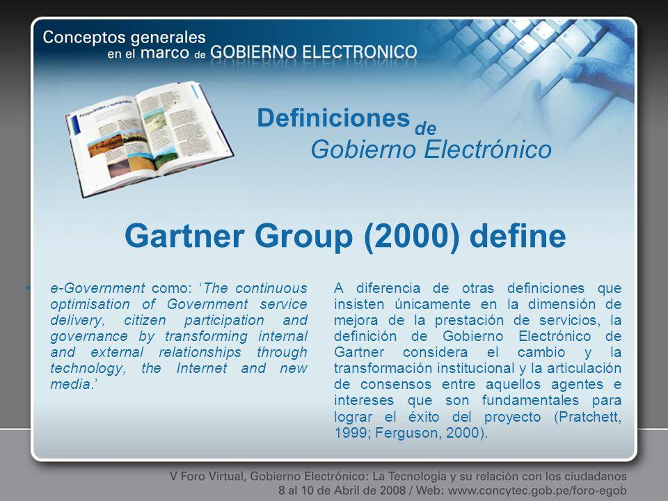 Gartner Group (2000) define
