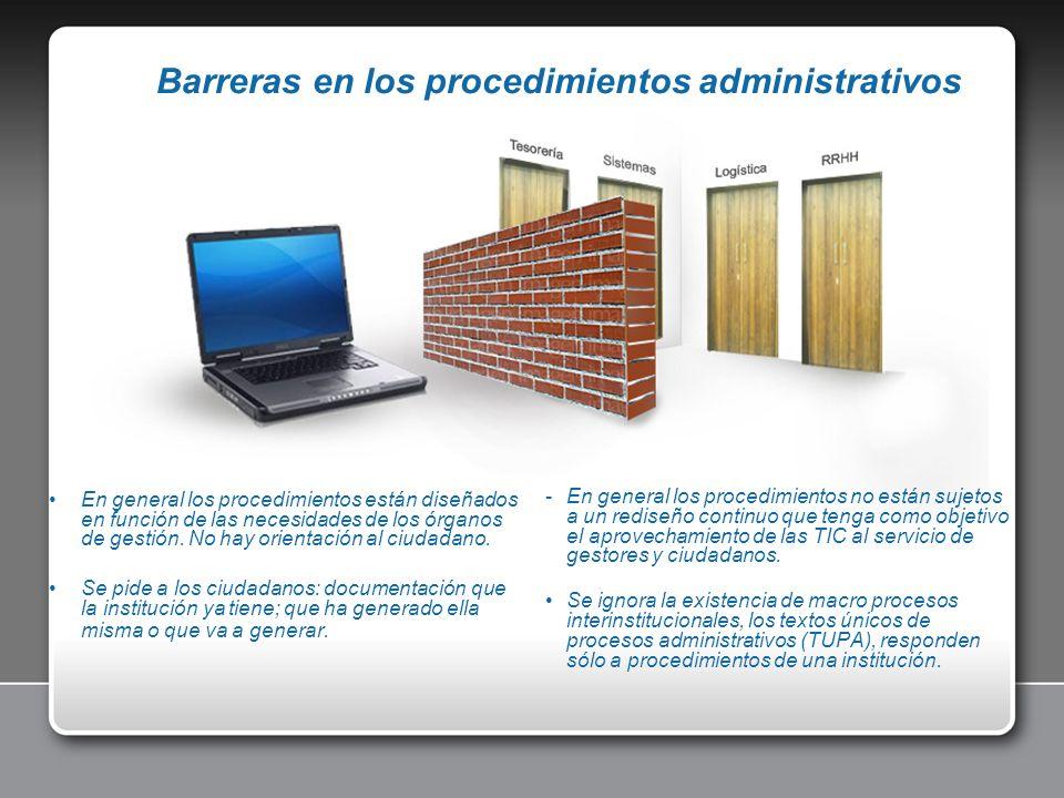 Barreras en los procedimientos administrativos