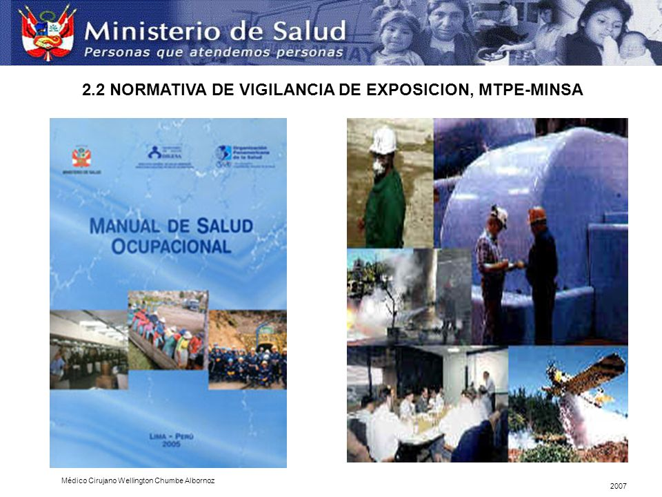 2.2 NORMATIVA DE VIGILANCIA DE EXPOSICION, MTPE-MINSA