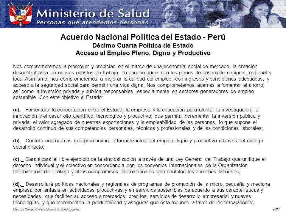 Acuerdo Nacional Política del Estado - Perú