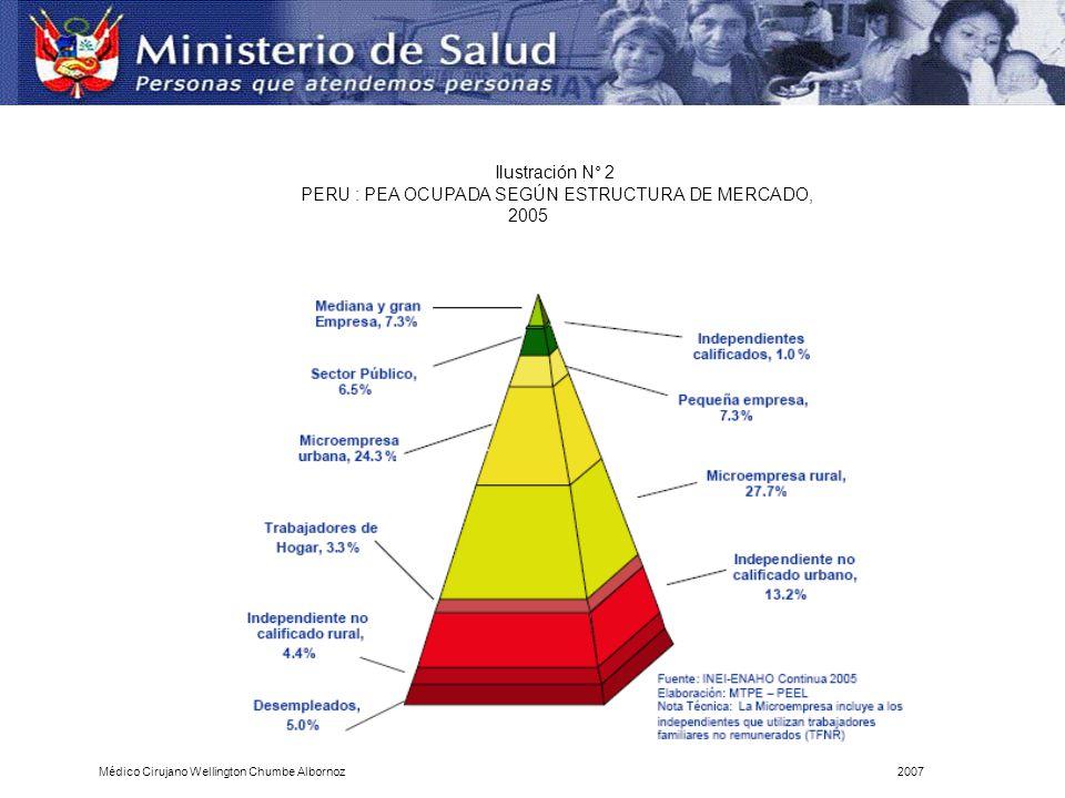 PERU : PEA OCUPADA SEGÚN ESTRUCTURA DE MERCADO, 2005